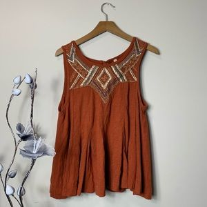 Free People open back sleeveless top